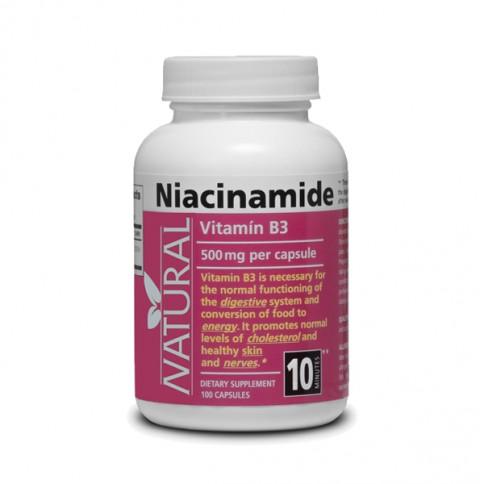 Vitamin B3 - Niacinamide - 500 mg - 100 capsules