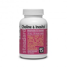 Choline and Inozitol - Bitartrate and Inositol - 125 mg + 125 mg - 100 capsules