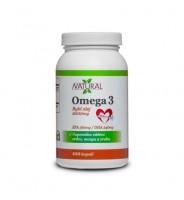 Omega 3, Fish oil - 1000 mg - 100 capsules