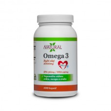 Omega 3, Fish oil - 1000 mg - 100 capsules