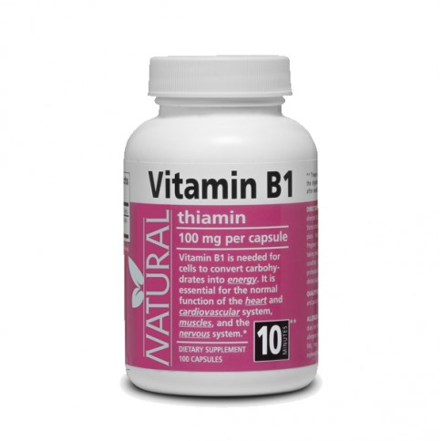 Vitamin B1 - Thiamine - 100mg - 100 capsules