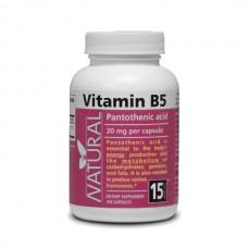 Vitamin B5 - Pantotehenic acid - 20 mg - 100 capsules