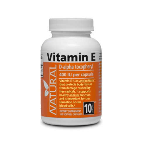Vitamin E 400 IU natural - 100 capsules