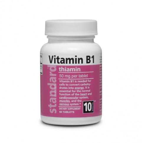 Vitamin B1 Thiamine 50 mg - 60 tablets