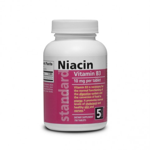 Vitamin B3 - Niacin -10 mg - 750 tablets