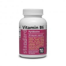Vitamin B6 - Pyridoxine - 20 mg - 100 capsules