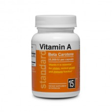 Vitamin A Betacarotene - 25,000 IU - 60 capsules