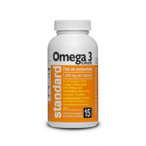 Omega 3, Fish oil - 1200 mg - 60 capsules