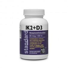 Vitamín K2 + D3 - MK7 80mcg/400 IU - 60 kapsúl