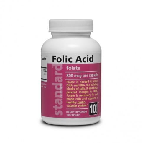 Vitamin B9 - Folic acid - 800 mcg - 100 capsules